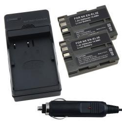 INSTEN Battery/ Charger Set for Nikon EN-EL3E/ D700/ D300/ D200/ D80/ D90 - Thumbnail 0