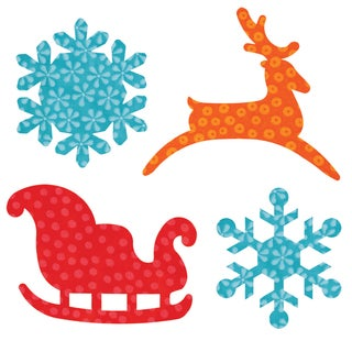 Go! Fabric Cutting Dies It Fits!-Sleigh & Snowflakes