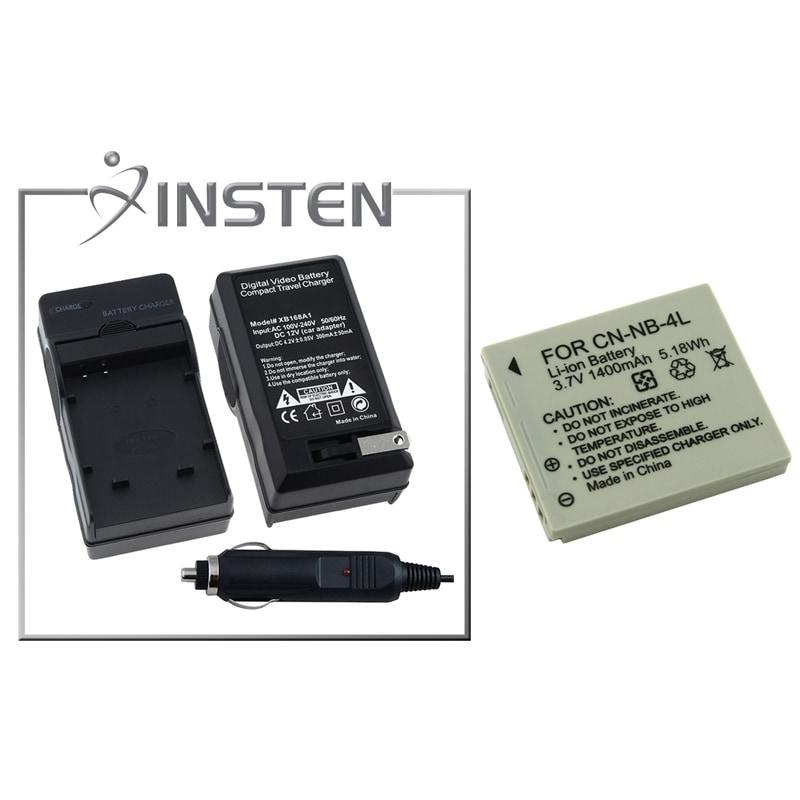 INSTEN Battery for Canon NB-4L/ PowerShot SD1400/ SD1000/ SD1100