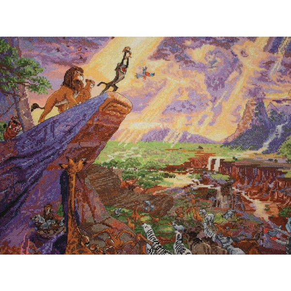 "Disney Dreams Collection By Thomas Kinkade The Lion King-16""X12"" 18 Count"