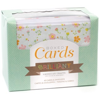 "Box Of Patterned Cards With Envelopes 4""X6"" 40/Pkg-Brilliant"