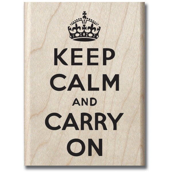 "Mounted Rubber Stamp 2.5""X3.25""-Keep Calm"