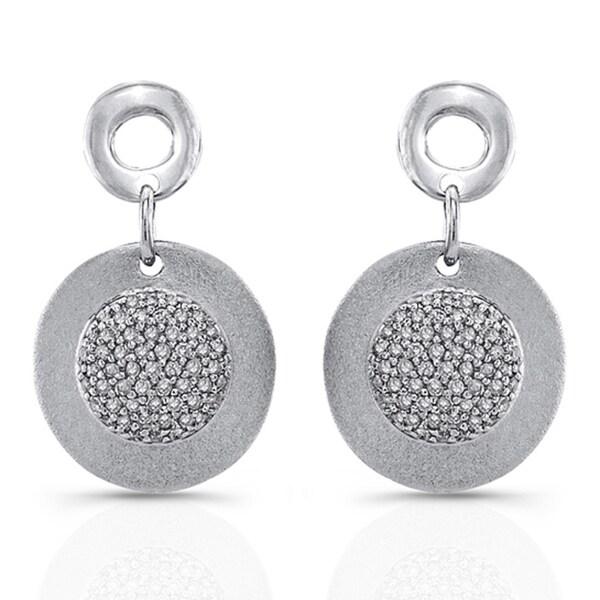 Sterling Silver 2/5ct TDW White Diamond Circle Earrings