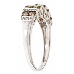 D'Yach 10k White Gold Multi-color Diamond Fashion Ring - Thumbnail 1