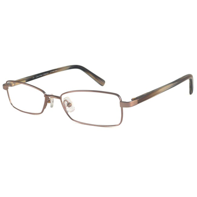 Calvin Klein Readers Men's/ Unisex CK7242 Bronze Rectangular Reading Glasses