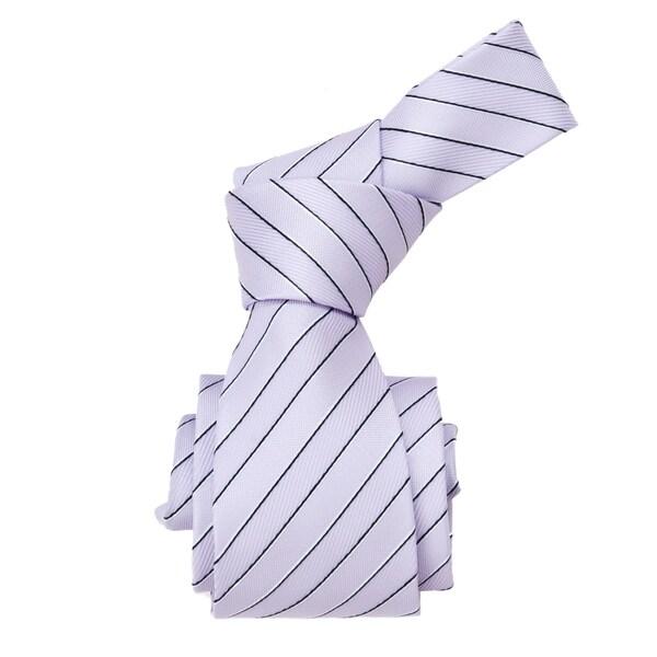 Republic Men's Light Purple Striped Woven Tie