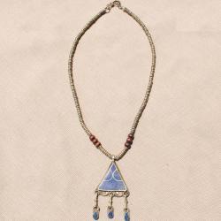 Handmade Triangle Shaped Blue Lapis Lazuli Necklace (Afghanistan)