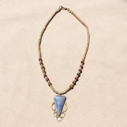 Hand-made Triangle Shaped Lapis Lazuli Necklace (Afghanistan)