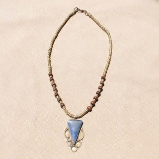 Handmade Triangle Shaped Lapis Lazuli Necklace (Afghanistan)
