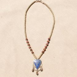 Handmade Heart Shaped Lapis Lazuli Necklace (Afghanistan)