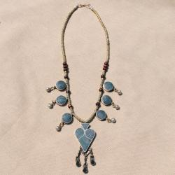 Hand-made Green Lapis Lazuli Necklace (Afghanistan)