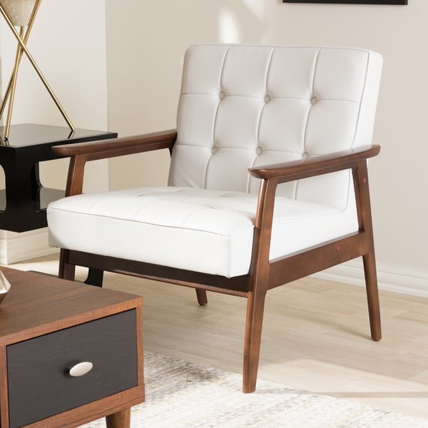 Mid Century Modern Furniture Chair: Shop Stratham White Mid-century Modern Club Chair