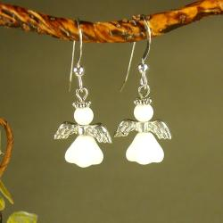 Jewelry by Dawn Sterling Silver Angel Earrings