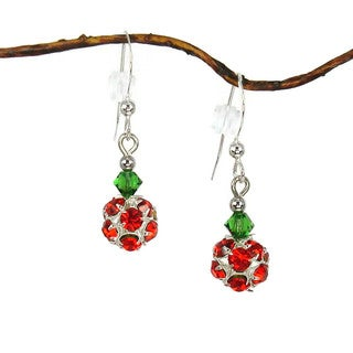 Jewelry by Dawn Red Christmas Holiday Ornament Earrings
