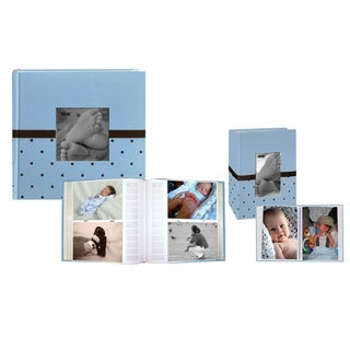Pioneer 2-Up Baby Dot Fabric Frame Photo Album 200 Pockets - 200 pockets