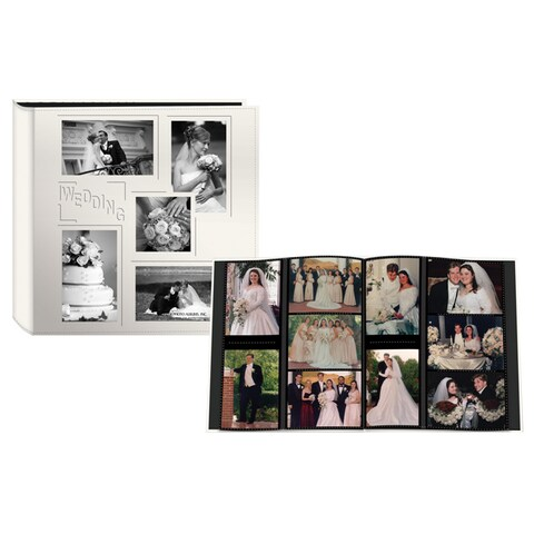 Pioneer 5-Up Sewn Embossed Collage Frame Photo 12-inch Album