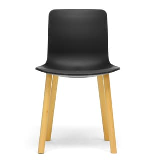 Lyle Black Plastic Modern Dining Chairs (Set of 2)