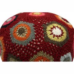 nuLOOM Handmade Casual Living Sweater Pouf - Thumbnail 1
