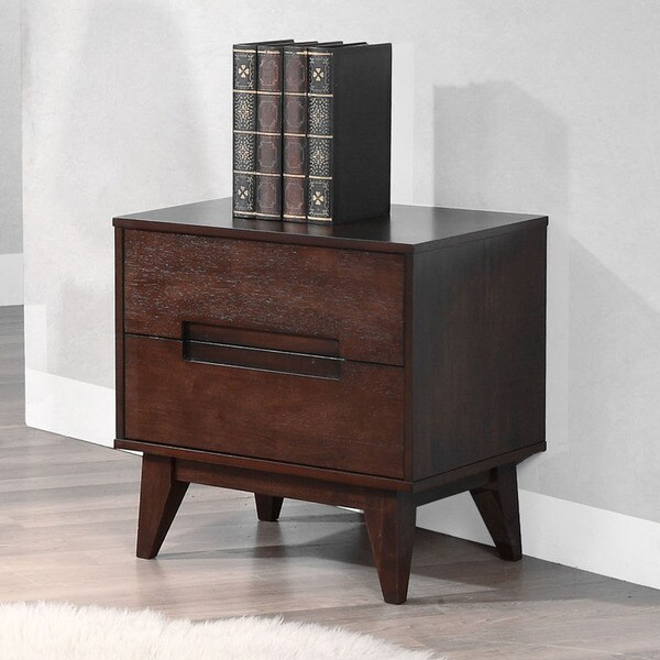 Charles Tobacco Finish 2-drawer Nightstand