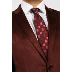 Ferrecci Men's Burgundy Velvet Jacket