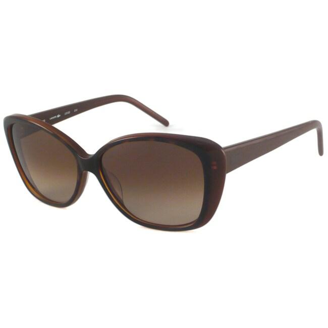 Lacoste Women's L612S Rectangular Plastic Sunglasses