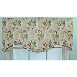 Antique Floral Ruffle Cornice Valance