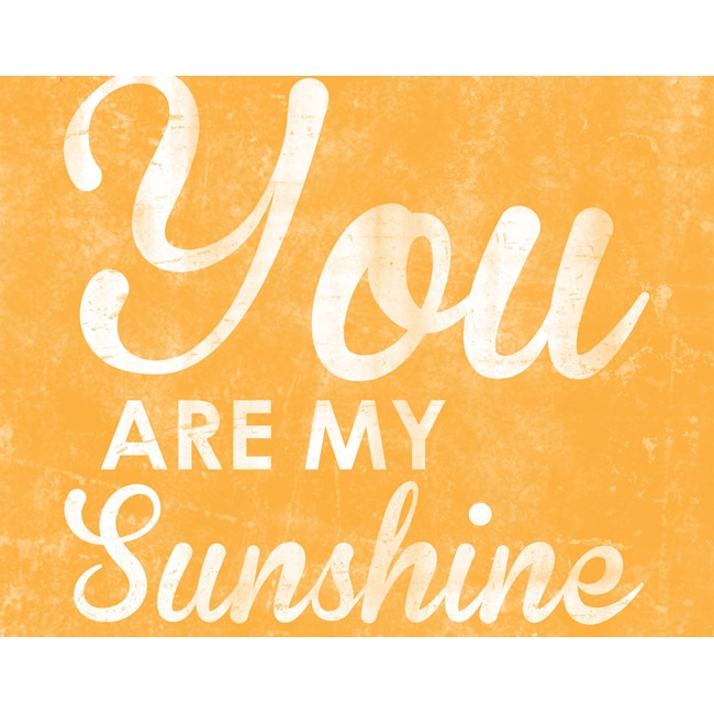 'You Are My Sunshine My Only Sunshine' Fine Art Giclee Print