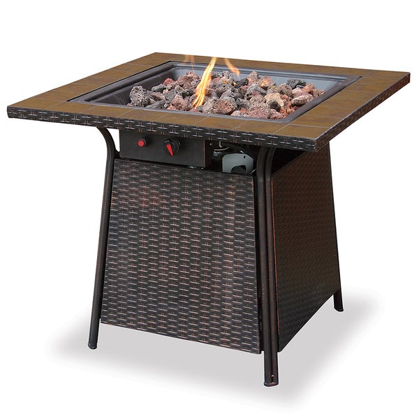 LP Gas Outdoor Firebowl with Tile