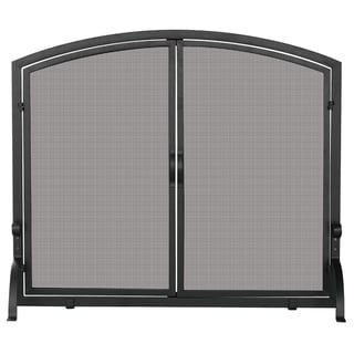 Single Iron Black Screen Door