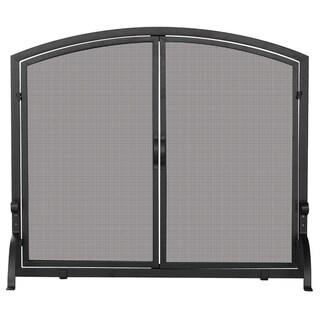 Single Iron Black Screen Door