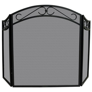 3-fold Black Iron Arch Screen