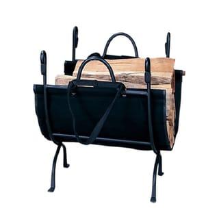 Blue Rhino Black Cast Iron Deluxe Log Holder