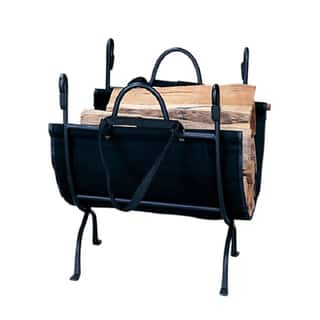 Blue Rhino Black Cast Iron Deluxe Log Holder|https://ak1.ostkcdn.com/images/products/7011529/7011529/Blue-Rhino-Black-Cast-Iron-Deluxe-Log-Holder-P14518603.jpg?impolicy=medium