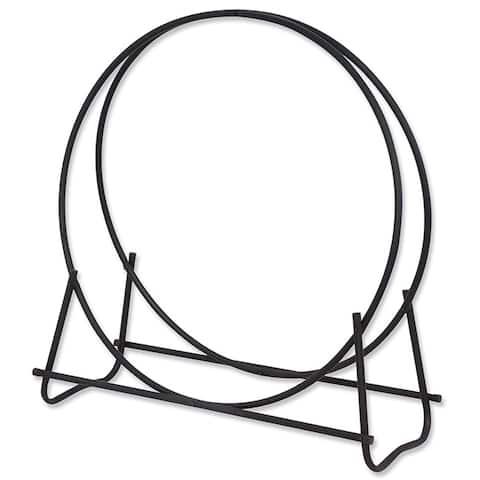 Black 40in Diameter Log Hoop