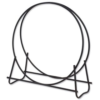 40-inch Black Log Hoop