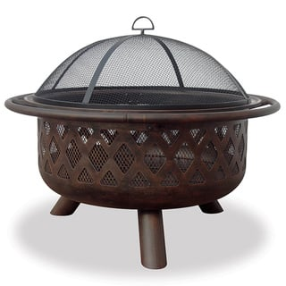 Bronze-Finished 32-Inch Metal Firebowl