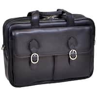 Mcklein 'Hyde Park' Double Compartment Laptop Briefcase
