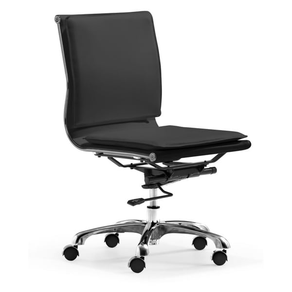 Lider Plus Armless Black Office Chair