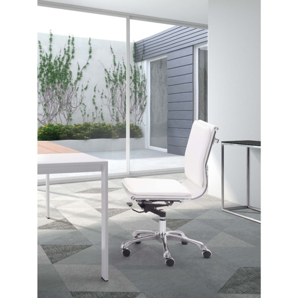 lider plus armless white office chair free shipping today