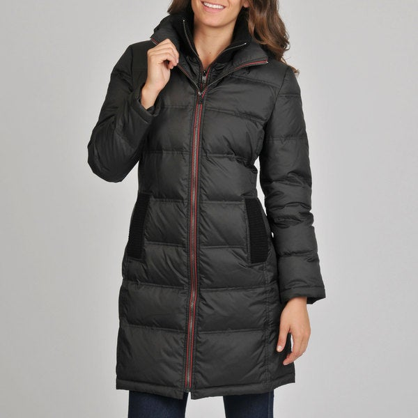 London Fog Women's Black Quilted Down Coat - Free Shipping Today ...