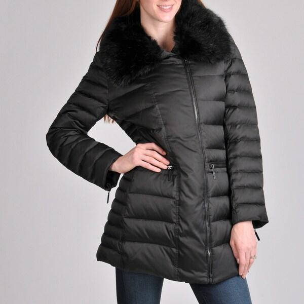 Hilary Radley Women's Parka with Faux Fur Collar