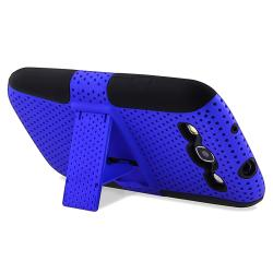 Black/ Blue Hybrid Case for Samsung Galaxy S III/ S3 i9300 - Thumbnail 1