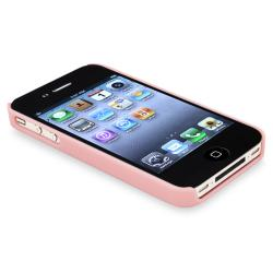 INSTEN Pink with Lace and Pearl Snap-on Phone Case Cover for Apple iPhone 4/ 4S