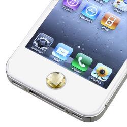 Amber Diamond Home Button Sticker for Apple iPhone/ iPad/ iPod - Thumbnail 1