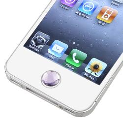 Purple Diamond Home Button Sticker for Apple iPhone/ iPad/ iPod