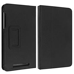 INSTEN Black Leather Phone Case Cover with Stand for Google Nexus 7 - Thumbnail 2