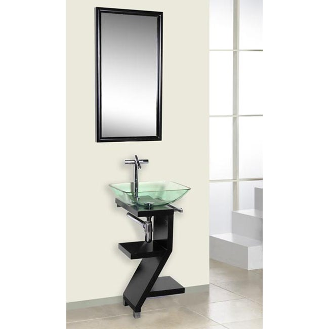 DreamLine 3-piece Contemporary Black Wood Vanity Set