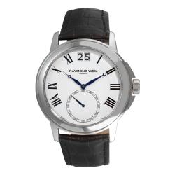 Raymond Weil Men's Traditional Leather Strap Watch