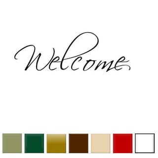 Welcome' Vinyl Wall Art Decal