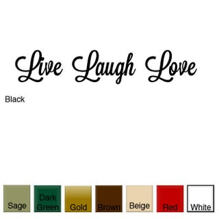 'Live, Laugh, Love' Vinyl Wall Art Decal (Option: White)